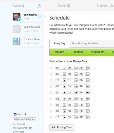schedule buffer