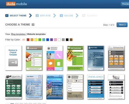 how to make your site mobile using dudamobile plugin