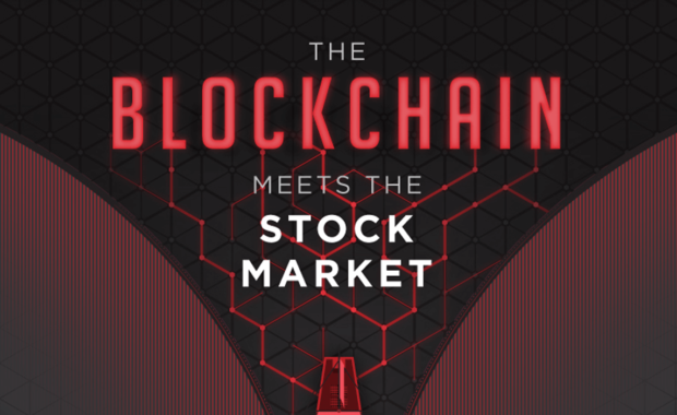 blockchain stock market infographic