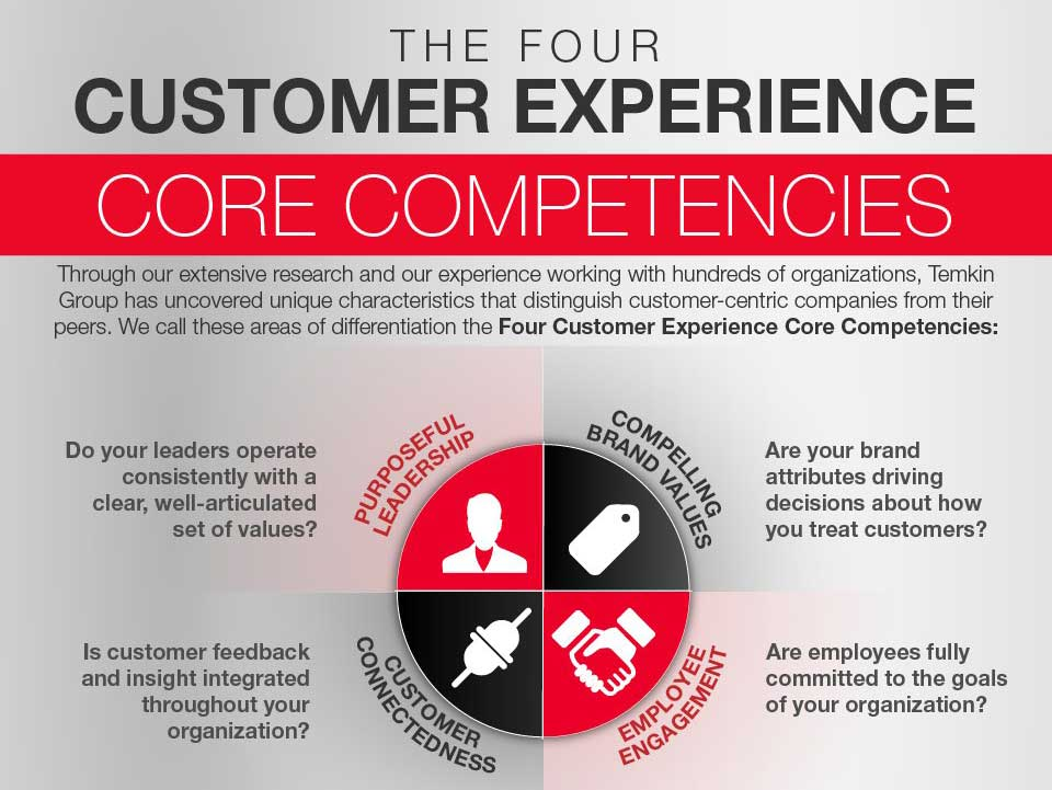 Four Customer Experience Competencies Infographic