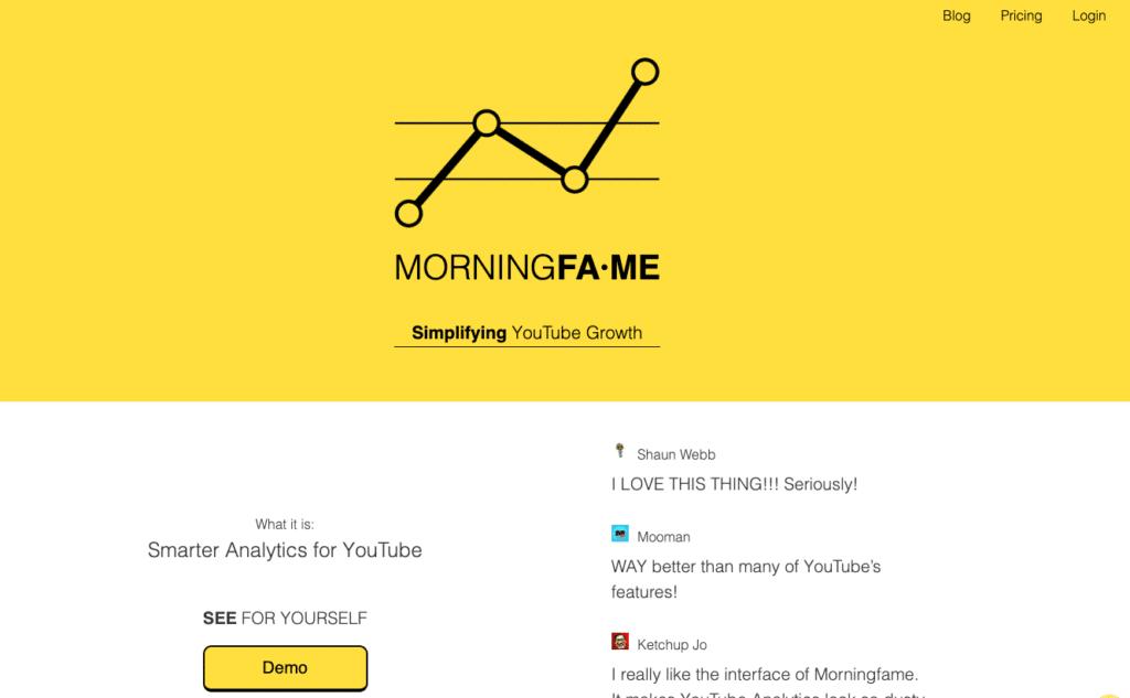 MorningFame increase video views using YouTube keyword research tool