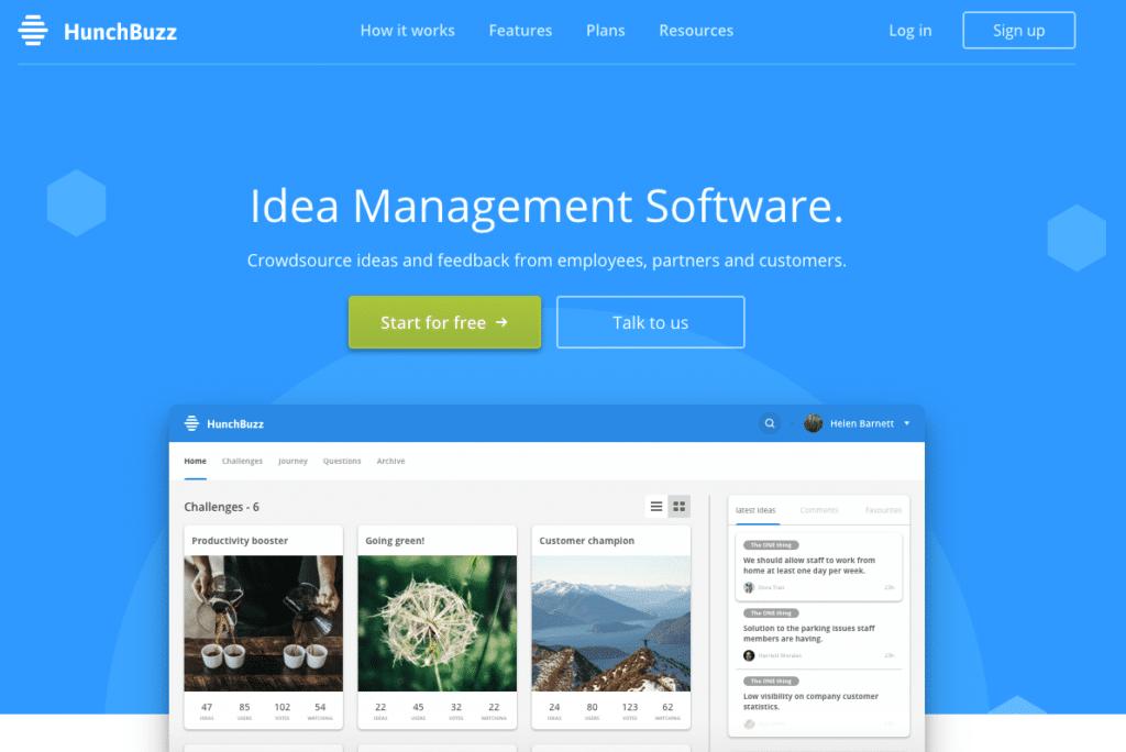 hunchbuzz idea management tool