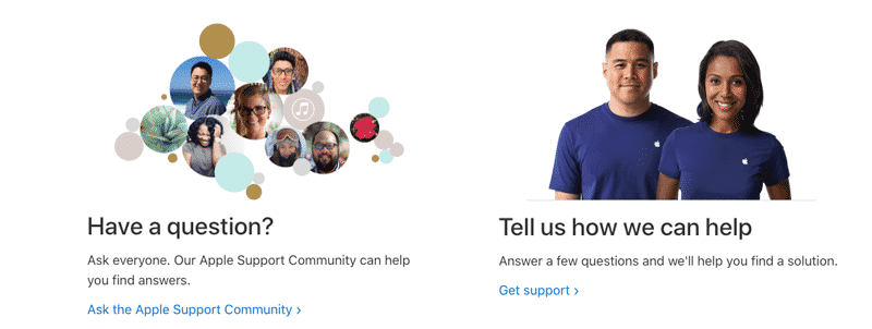 apple business model support options