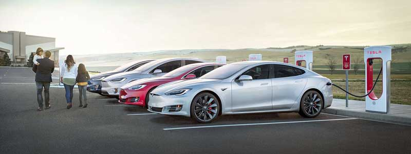tesla charge points