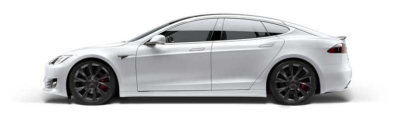 the tesla model s car