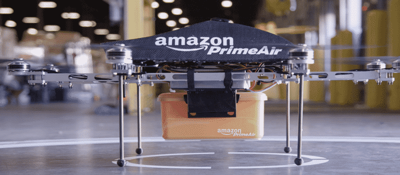 ecommerce business model examples - Image of Amazon's drone delivery