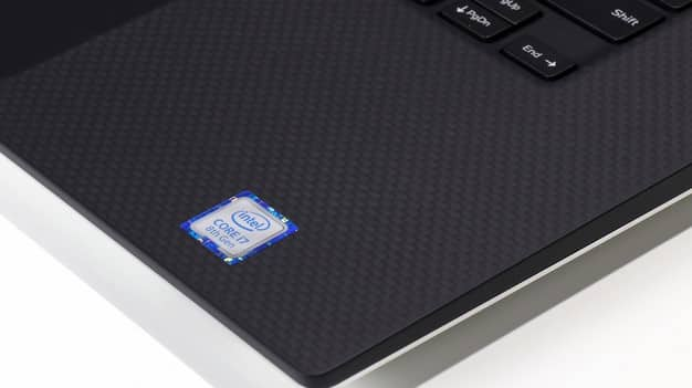 Intel badge on the Dell XPS 15